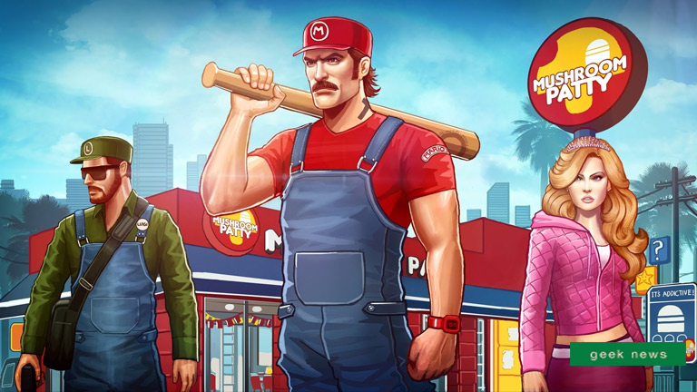 Super Mario in the GTA world