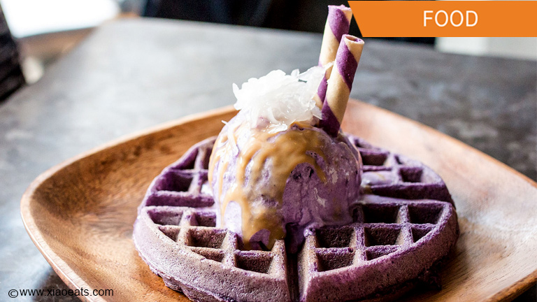 ube waffle ice cream popular in Toronto