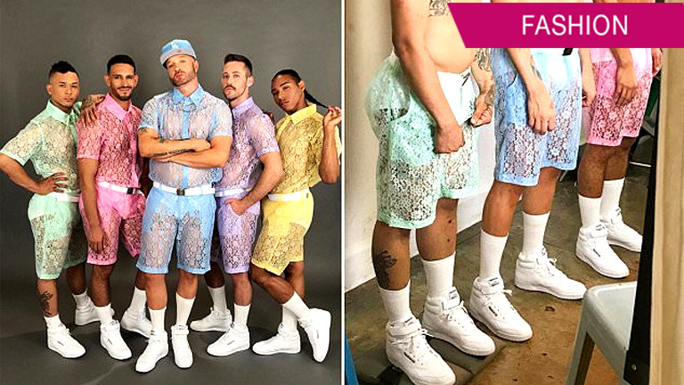 See-through lace shorts for men are a new trend?