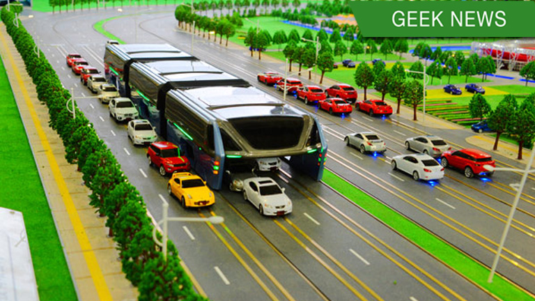 china transit elevated bus failed