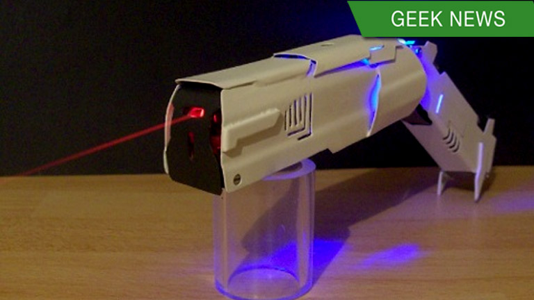 mini-laser gun to shoot and burn targets