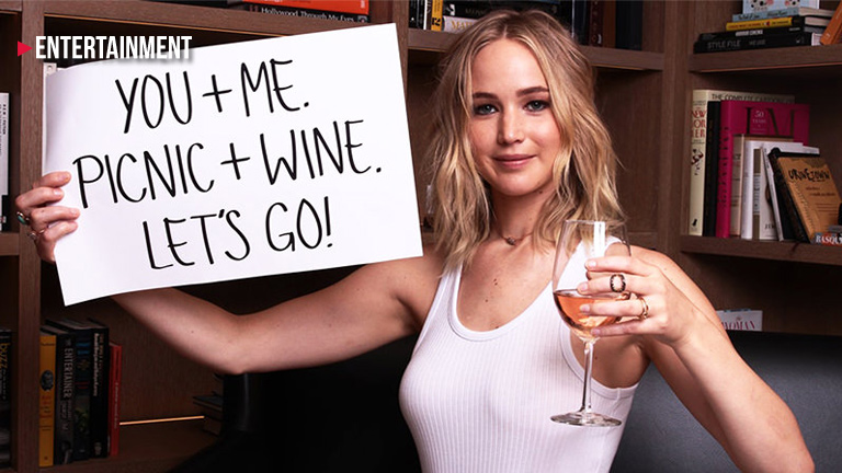 wine tasting with Jennifer Lawrence