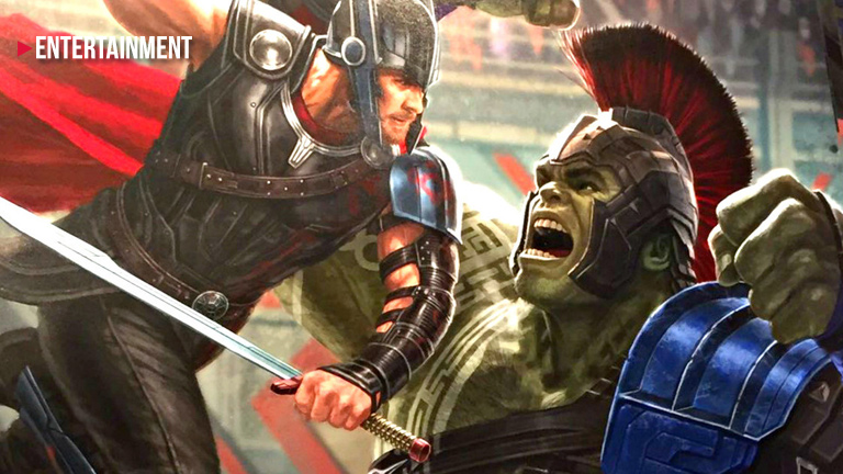 Incredible Hulk  and Thor battle