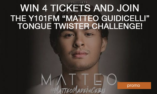 Y101FM's 'Matteo Guidicelli' 10x Tongue Twister Challenge