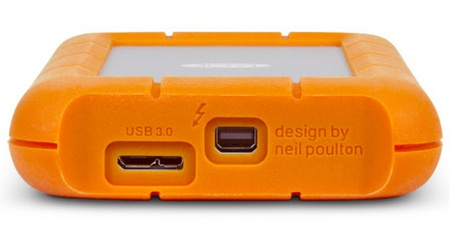 Universal Connectivity With Both Usb 3 0 And Thunderbolt Ports The Lacie Rugged