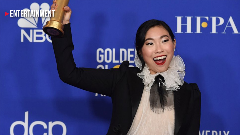 Awkwafina wins her first Globe for The Farewell
