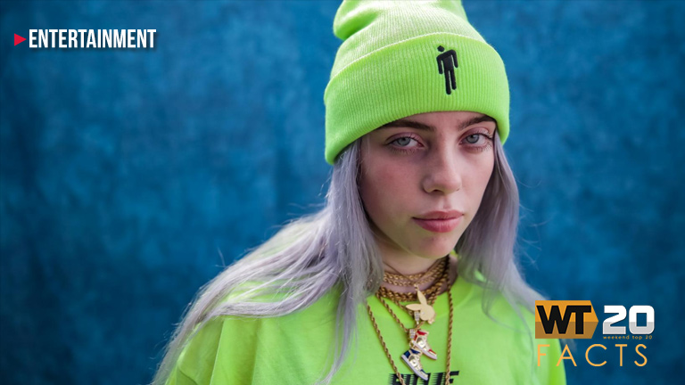 "Billie Eilish's ""Bad Guy"" made it to No.1 at the Weekend Top 20 Countdown"