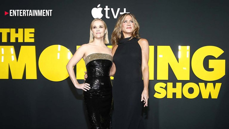 Jennifer Aniston and Reese Witherspoon at The Morning Show's Premiere